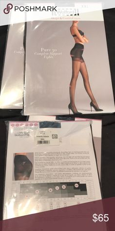 fd08c89aa13 Wolford pure 30 complete support tights new xxl Nearly black Pure 30  Complete support tights Shape