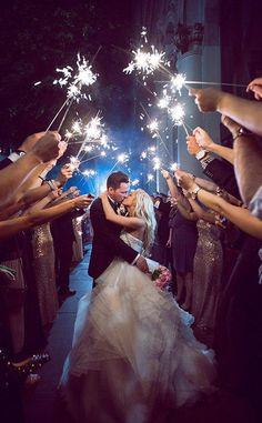 sparkle send off wedding photo ideas