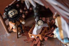 Quilling ,personaggi presepe : Giuseppe e il bambin Gesù di Chillotti Cristina