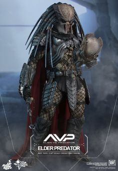 Collectors Row Inc. ABOUT THIS SIXTH SCALE FIGURE In Alien vs. Predator, the crossover movie about the battles between the dangerous aliens and predators, the human protagonist Predator Helmet, Predator Alien, Arte Alien, Alien Art, Wolverine, Predator Action Figures, Xenomorph, Sci Fi Fantasy, Oeuvre D'art