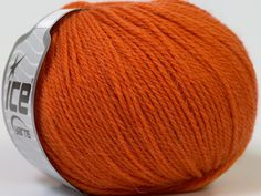 Lot of 6 Skeins ICE PURE ALPACA (100% Alpaca) Hand Knitting Yarn Orange - Yarn