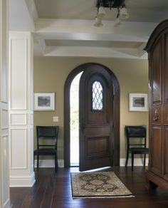 arched door-coffered ceiling