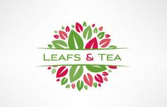 Logo Inspirations - Leaf & Tea     I can see myself using a similar style in a coffee shop  **Me veo usando un estilo similar en una coffee shop