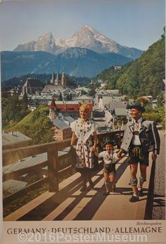 Germany travel poster. Circa 1935. Original. Printed in Germany.