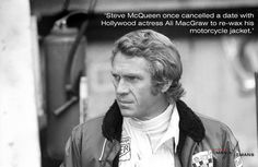 When it came to life, Steve knew where his priorities lay.  Find out more about one of the best dressed men in Hollywood by signing up to our mailing list:  http://www.themanlemans.com/mailing-list.html  #TheManLeMans #SteveMcQueen #McQueen