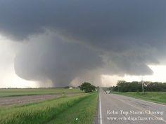 Large tornado now ongoing near Solomon, KS #TORNADO #KSwx