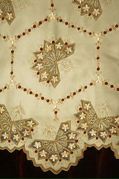 Check out this amazing embroidery! C.1882 bustle day dress from Met Museum.