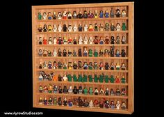 Handcrafted Hardwood Lego Display Case for Minifigures Minifigure Holds 130+ figures
