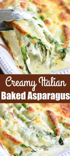 Lower Excess Fat Rooster Recipes That Basically Prime Creamy Italian Asparagus. It's Creamy, It's Cheesy, It's Full Of Herbs, It's Pure Heaven And Your Dinner Is Not Complete Without It Cheesy Asparagus Recipe, Asparagus Casserole, Grilled Asparagus Recipes, Vegetable Casserole, Creamy Asparagus, Parmesan Asparagus, Side Dish Recipes, Healthy Dinner Recipes, Cooking Recipes