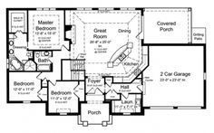 Open Floor Plan (HWBDO73933) | French Country House Plan from BuilderHousePlans.com