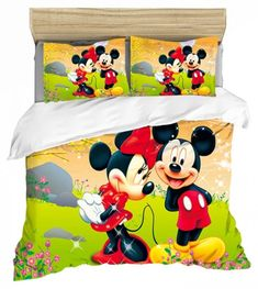 MICKEY MINNIE MOUSE FULL SIZE DUVET COVER WITH TWO PILLOW CASES 3 PC SET Minnie Mouse Bedding, Disney Bedding, Mickey Minnie Mouse, Full Size Duvet Cover, Throw Pillow Cases, Throw Pillows, Kids Bedding Sets, Soo Jin, Kids Blankets