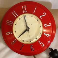 Red Timex Vintage Wall Clock