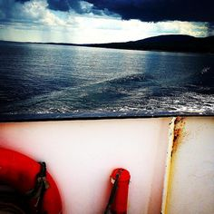 Dark waters from a Maine ferry in Penobscot Bay - Photograph taken by Bonechi Imports