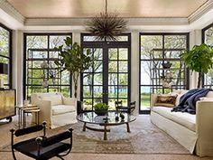 Living room - gorgeous - love the doors | Kara Mann