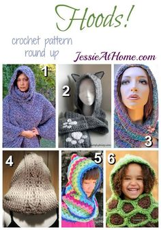 Hoods - free crochet pattern round up from Jessie At Home: