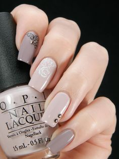 Better Nail Day. Nails. Beige, brawn. Luxury. Nail art. Nail design.