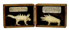 """Levi Fisher Ames,(1840-1923) the Greatest Jack-Knife Artist, and his traveling """"Grand Museum of Art and Natural History"""", a menagerie of several hundred hand-carved real and imaginary wooden animals in carefully constructed cases. John Michael Kohler Arts Center has the collection."""