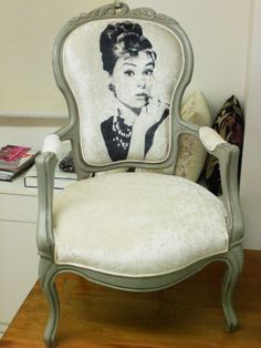 audrey hepburn vintage armchair by namedesignstudio on Etsy