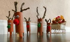 Make unusual Christmas decorations yourself - 42 craft ideas with toilet paper rolls - Weihnachtsbasteln - Christmas Arts And Crafts, Diy Arts And Crafts, Christmas Activities, Kids Christmas, Holiday Crafts, Crafts For Kids, Christmas Decorations, Craft Decorations, Reindeer Craft