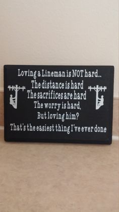 Loving a lineman sign