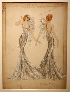 """sketch of costume from """"Broadway Through a Keyhole"""", 1933"""