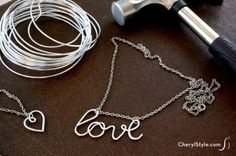 Hammered Metal Jewelry - Fun Family Crafts