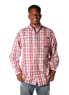 a496d26a509 Collegiate Super Bonehead Long Sleeve in AR Red Plaid by Columbia Sportwear  Columbia Sportswear, Red