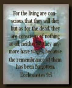 Ecclesiastes 9:5