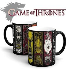 Game Of Thrones mugs Tribal totem mug color changing magic mugs cup Tea coffee mug cup for friend children gift  Game Of Thrones mugs Tribal totem mug color changing magic mugs cup Tea coffee mug cup for friend children gift When filled with hot liquid, Wake up. Heat sensitive material on the mug surface color when hot liquid is poured in Limit exposure to direct sunlight Hand wash (dishwasher not recommended) Do not microwave Capacity: 350ml Material: Ceramics Color: color changing mug N Coffee Mug Display, Coffee Mugs, Heat Sensitive Paint, Viking Drinking Horn, Funny Christmas Gifts, Cute Mugs, Ceramic Mugs, Tea Cup Saucer, Mug Cup