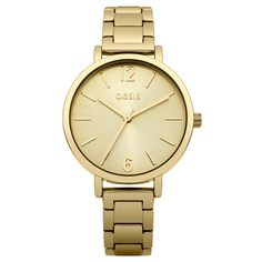 Oasis - Ladies PVD Gold Plated Fashion Watch - B1508 - Online Price: £40.00