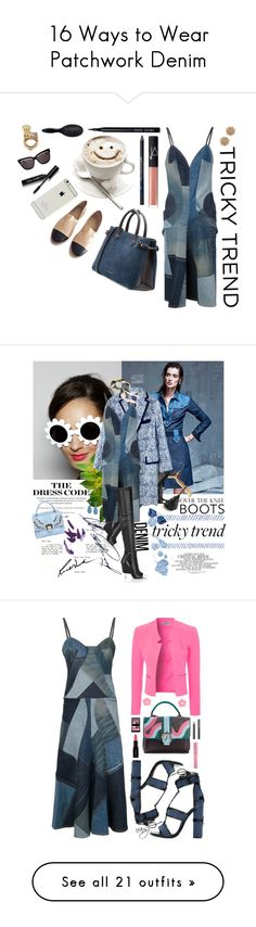 """""""16 Ways to Wear Patchwork Denim"""" by polyvore-editorial ❤ liked on Polyvore featuring patchworkdenim, waystowear, Chanel, Burberry, Bobbi Brown Cosmetics, Christian Dior, ALESSANDRO DARI, H&M, NARS Cosmetics and Urban Decay"""