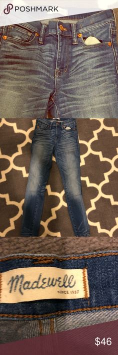 Madewell high riser jean Skinny Jean Madewell Pants Skinny