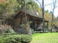 Authentic Log Cabin, 21 Acres, Rushing... - HomeAway High Country & Blue Ridge Mountains