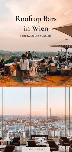 Rooftop Bar, Travel Goals, Vienna, Paris Skyline, The Good Place, Travel Inspiration, The Neighbourhood, Places To Go, Travel