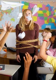 Avoiding first-day mistakes for new teachers.  This blog includes many other useful posts about classroom management and teaching life in general.