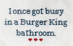 Burgerking Subversive Cross Stitch Stitch Patterns Cross Stitch