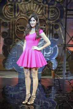 Katrina Kaif looked like a human Barbie in a cute pink dress at the launch of the the title track of the film, 'Dhoom:3'. #Bollywood #Fashion #Style #Beauty