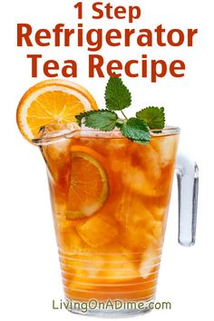 1 Step Refrigerator Tea Recipe - 13 Homemade Flavored Tea Recipes<br> Homemade iced tea is a refreshing drink, especially on hot summer days! These homemade flavored tea recipes give you a lot of variety for tasty variations! Sweet Tea Recipes, Iced Tea Recipes, Drink Recipes, Healthy Drinks, Healthy Recipes, Nutrition Drinks, Healthy Food, Homemade Iced Tea, Smoothie Drinks