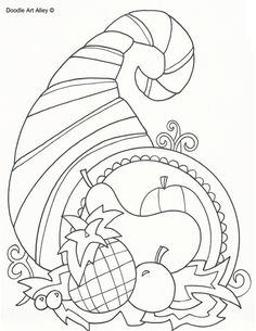 thanksgiving tree coloring pages - photo#32