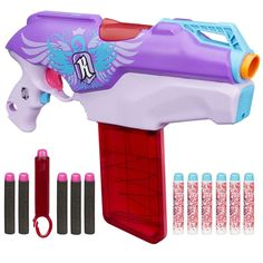 f69ffbd9ee Nerf Rebelle Rapid Red Blaster Kids Girls Toy Gun Game Darts Rifle XMAS  Gift  NerfRebelle
