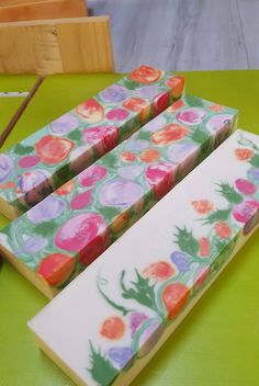 This soap takes me to a happy place I imagine a field of wild flowers Melt And Pour, Christmas Soap, Soap Maker, Soap Packaging, Glycerin Soap, Milk Soap, Cold Process Soap, Soap Molds, Soap Recipes