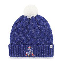 2992931e4d860 New England Patriots Women s 47 Brand Classic Blue Fiona Cuff Knit Hat New  England Patriots Logo