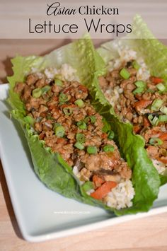 Make your favorite Asian foods at home like this simple to make Asian Chicken Lettuce Wraps recipe.