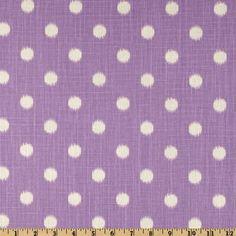 Premier Prints Ikat Dots Dossett Grapevine / purple polka dot fabric