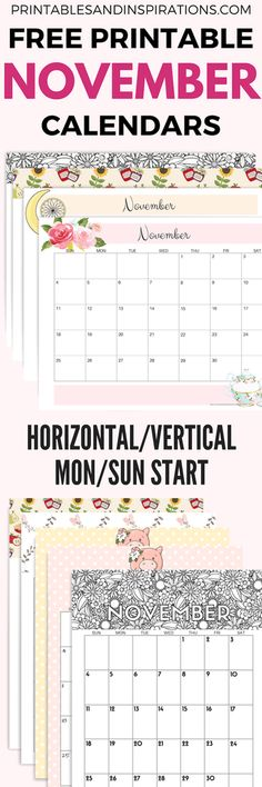 Your Free Printable November 2018 Calendar Is Here! Choose your November monthly planner and have an awesome month. Printable Letters, Printable Cards, Printable Planner, Planner Stickers, Free Printables, Monthly Planner, Planner Pages, Happy Planner, Planner Ideas