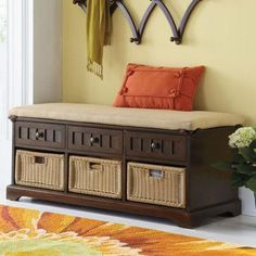Storage Bench...love the low profile.