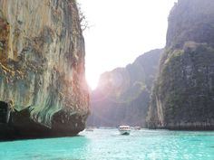 Hire a long-tail boat from Tonsai Pier on Koh Phi Phi Don and high-tail it to Pi Leh Bay on Koh Phi Phi Leh. Here, you'll snorkel in incredibly clear, green water surrounded on both sides by 330-foot-tall limestone cliffs (note that the sun only hits the water between 11 a.m. and 1 p.m., so plan accordingly for the best photo ops).Favorite place to stay: The very stylish Zeavola resort on Koh Phi Phi Don.