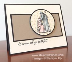 All Ye Faithful, Stampin' Up!, Brian King, PPA265
