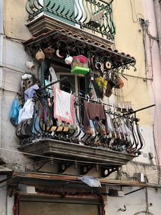 A busy balcony in Naples