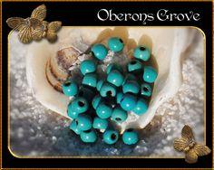 50 Magnesit Perlen türkis 3mm von OberonsGrove auf Etsy